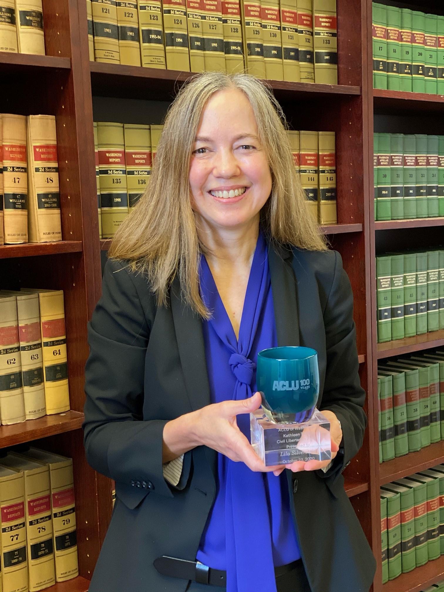 Lila Silverstein wins ACLU's Civil Libertarian award. Congratulations!